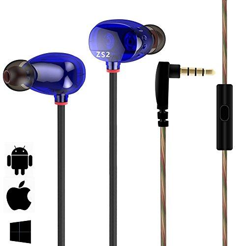 Bengoo イヤホン ヘッドホン 高音質 3.5mmステレオ 2ドライバ搭載 マイク搭載 カナル型 遮音 防水 シェア掛けタイプイヤホン マイク付き リモコン付き 通話可能 iphone ipad samsung スマートホンなどに対応