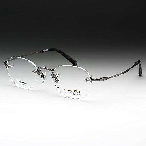 鯖江ワークス(SABAE WORKS) 老眼鏡 ふちなし ツーポイント グレー CB1012BP (度数+2.50, ブルーライトカット)