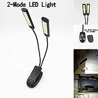 とにかく明るいLED譜面台ライト クリップライト COB LED 2灯タイプ [並行輸入品]