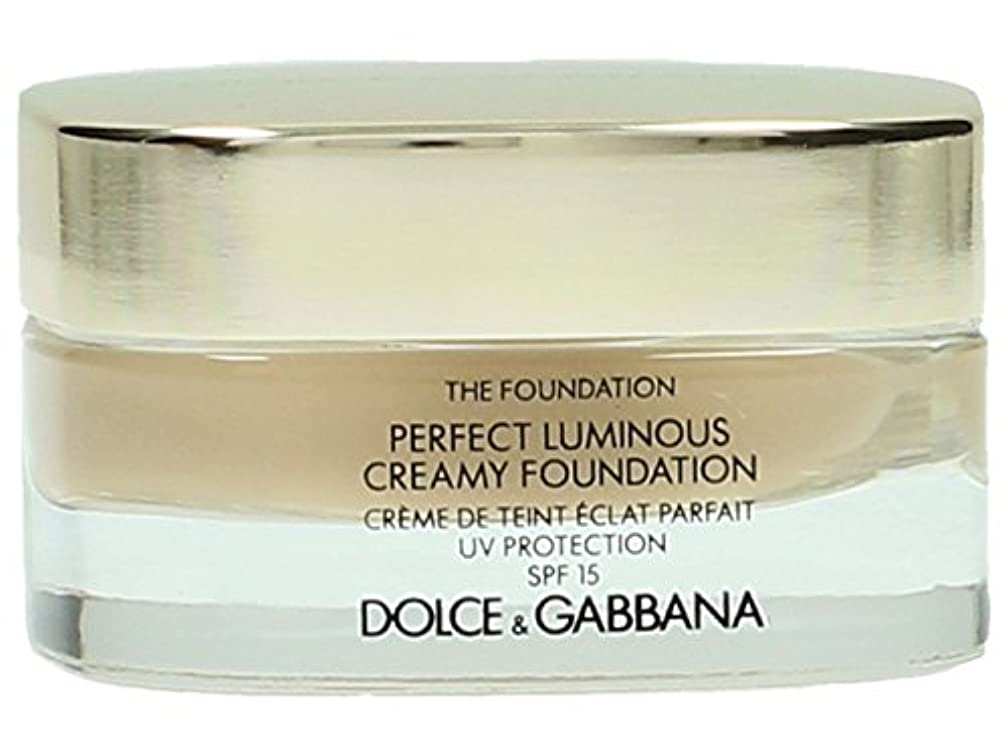 惑星いっぱい構成するDolce & Gabbana The Foundation Perfect Finish Creamy Foundation SPF 15 - # 120 Natural Beige 30ml