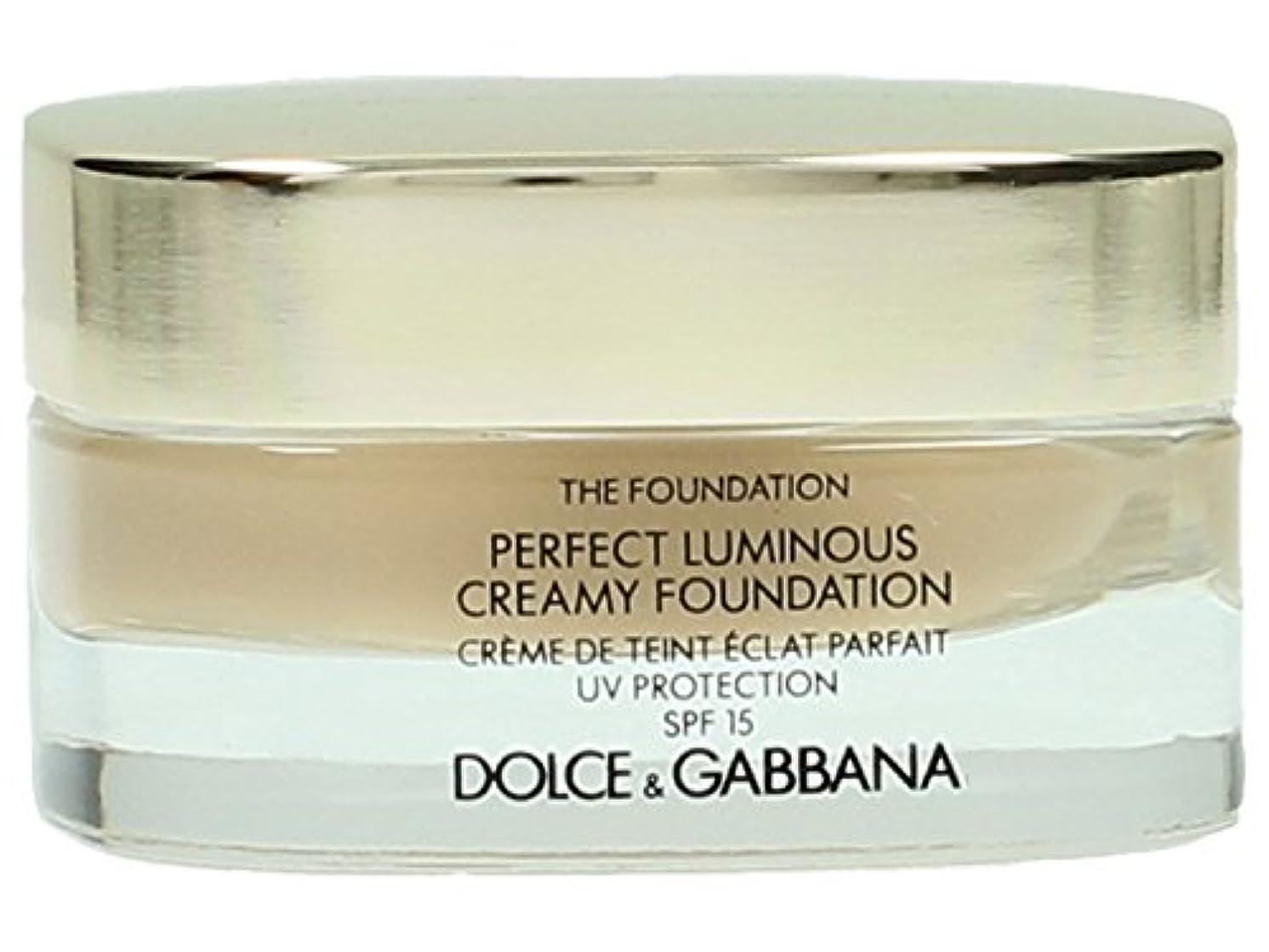 チャーミングバラ色発見するDolce & Gabbana The Foundation Perfect Finish Creamy Foundation SPF 15 - # 120 Natural Beige 30ml