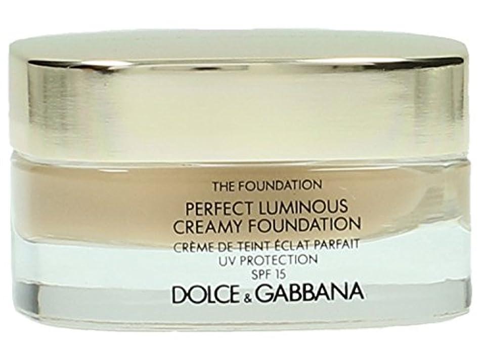 批判的同盟和Dolce & Gabbana The Foundation Perfect Finish Creamy Foundation SPF 15 - # 120 Natural Beige 30ml