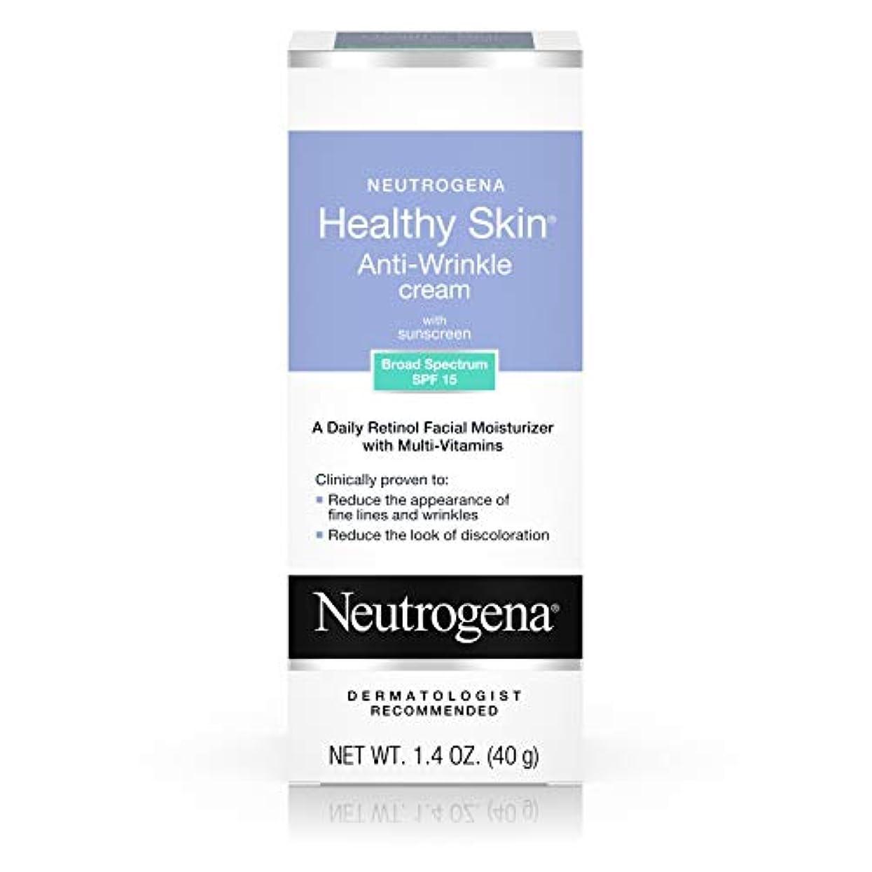 田舎地図従事したNeutrogena Healthy Skin Anti-Wrinkle Cream SPF#15 40 ml (並行輸入品)