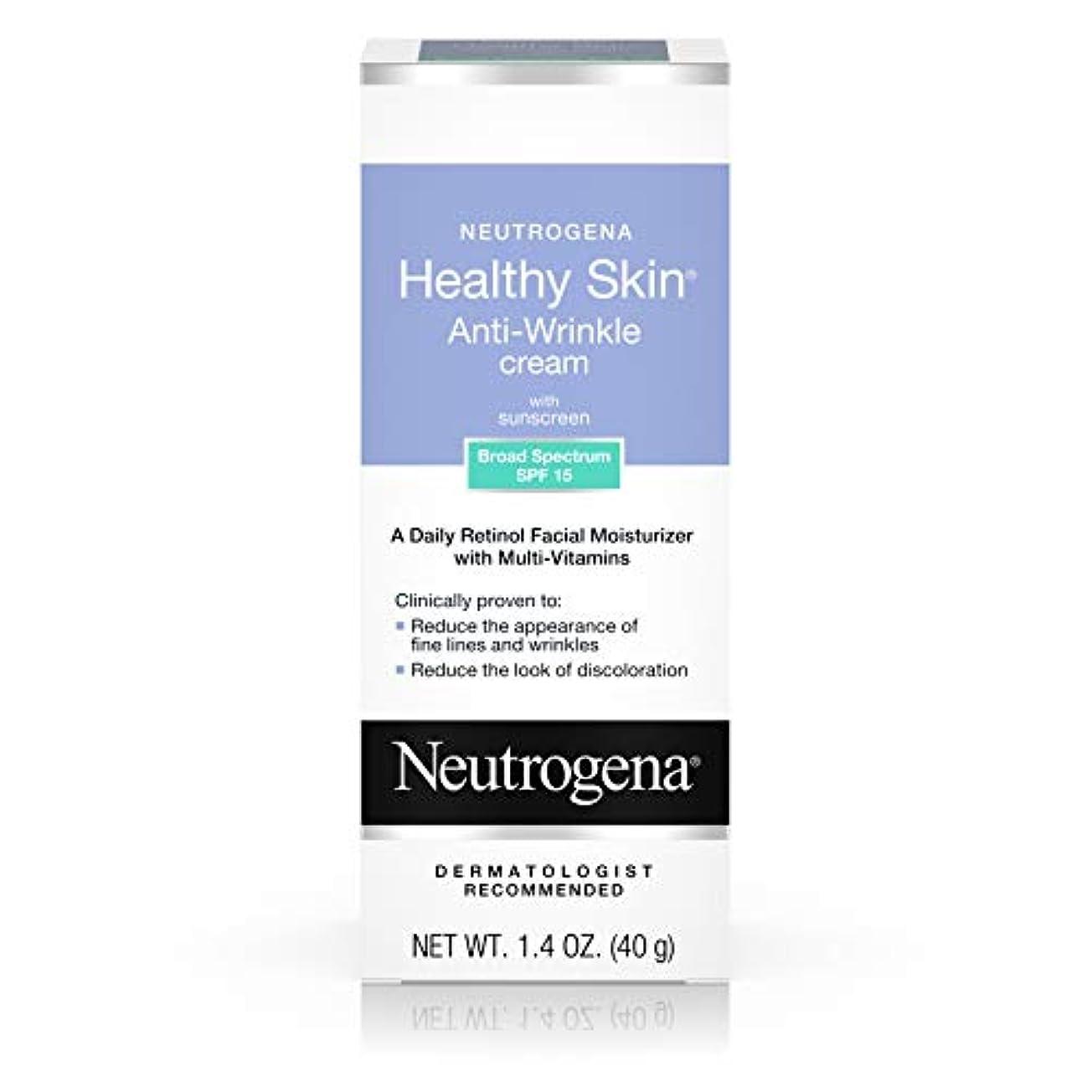 推進飾り羽ストレージNeutrogena Healthy Skin Anti-Wrinkle Cream SPF#15 40 ml (並行輸入品)