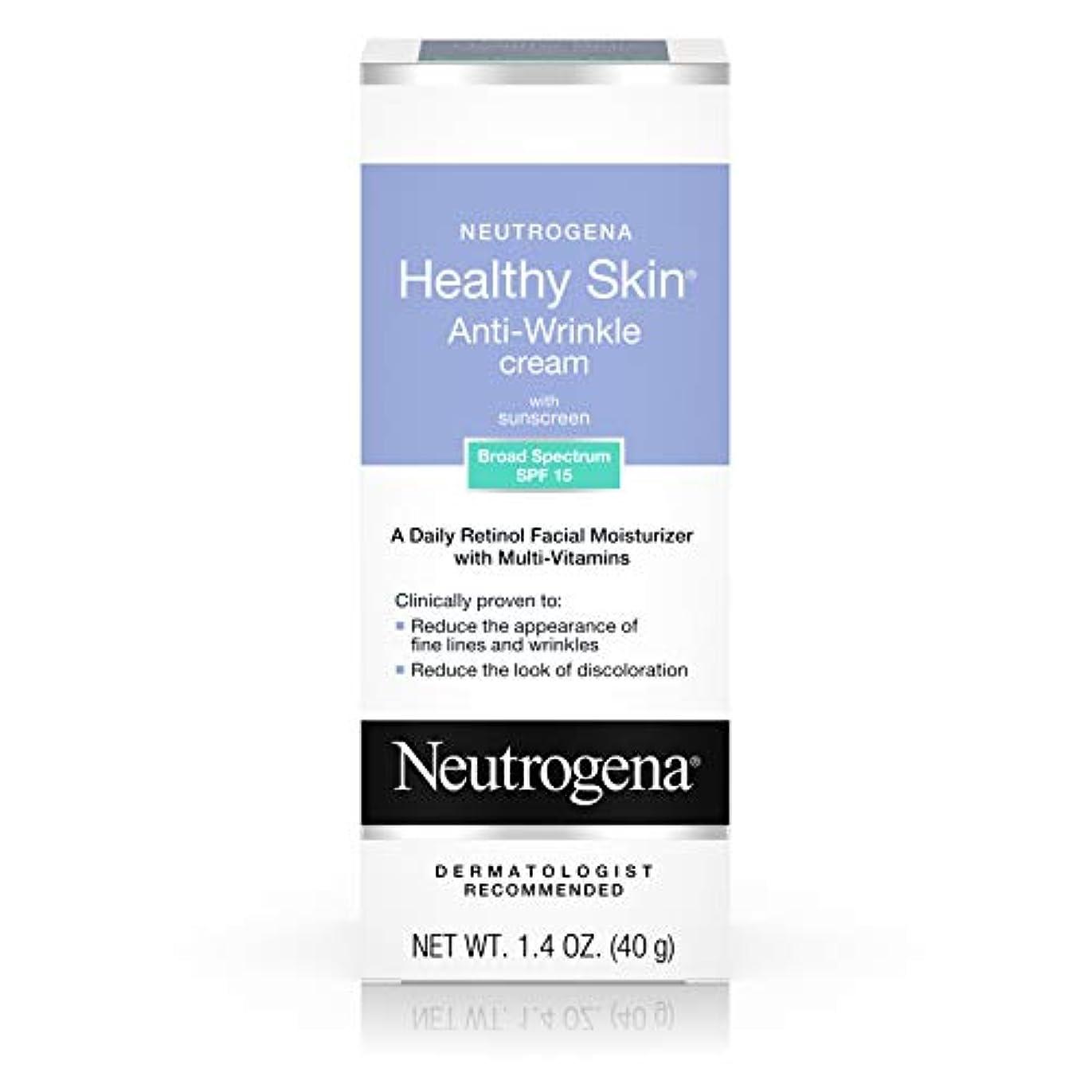 生産的残基思われるNeutrogena Healthy Skin Anti-Wrinkle Cream SPF#15 40 ml (並行輸入品)