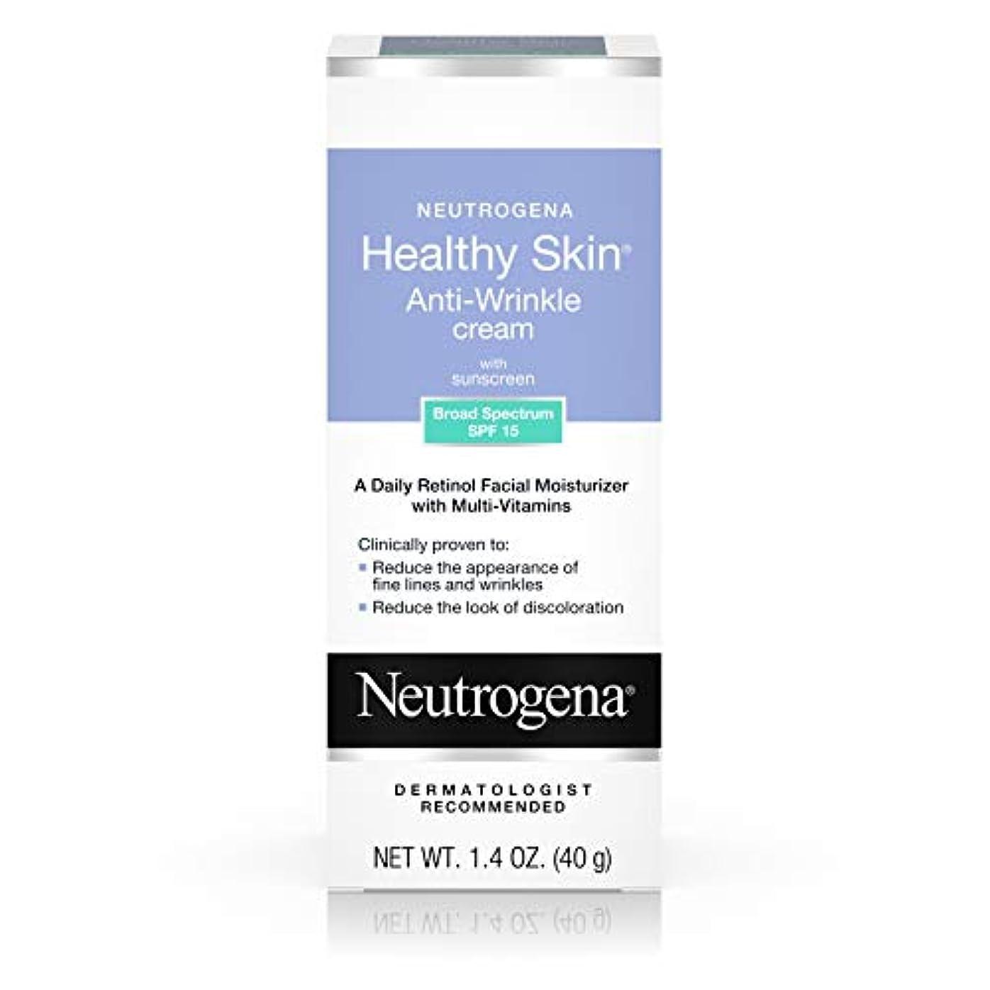置き場湿気の多いコンパニオンNeutrogena Healthy Skin Anti-Wrinkle Cream SPF#15 40 ml (並行輸入品)