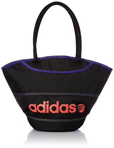 [アディダス] adidas HM ストリートミックス トートバッグ W BCN48 AH7118 (ブラック/フラッシュレッド S15)