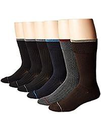 エコー Ecco Socks メンズ 靴下 ソックス Black/Grey (3)/Navy/ 6-Pack Bamboo Solid Dress Socks with Colored Welt and Tipping...