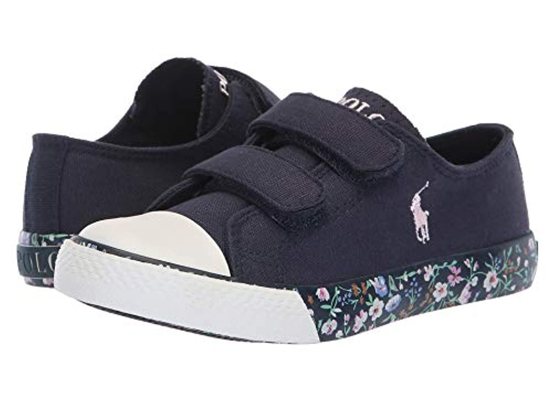 [Polo Ralph Lauren(ポロラルフローレン)] キッズカジュアルシューズ??スニーカー?靴 Slone EZ (Little Kid) Navy Canvas/Navy/Multi Floral/Light...