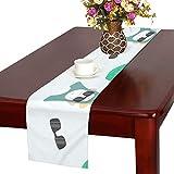 GGSXD テーブルランナー 陸上の猿 クロス 食卓カバー 麻綿製 欧米 おしゃれ 16 Inch X 72 Inch (40cm X 182cm) キッチン ダイニング ホーム デコレーション モダン リビング 洗える