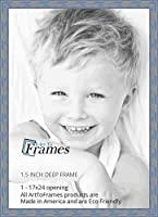 """(アートトゥーフレーム) ArtToFrames 額縁 古板系 ディープペリウィンクル幅1.5インチ 17 x 24"""" ブルー 2WOM0066-56673-YBLU-17x24"""