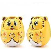 KEANER 新生児 乳児 ロールポリ おもちゃ 秋 抵抗 ラトル 人形 オーナメント サウンドタンブラー 教育玩具 (イエロー)