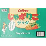 カルビー じゃがりこ サラダ味 60g × 12個
