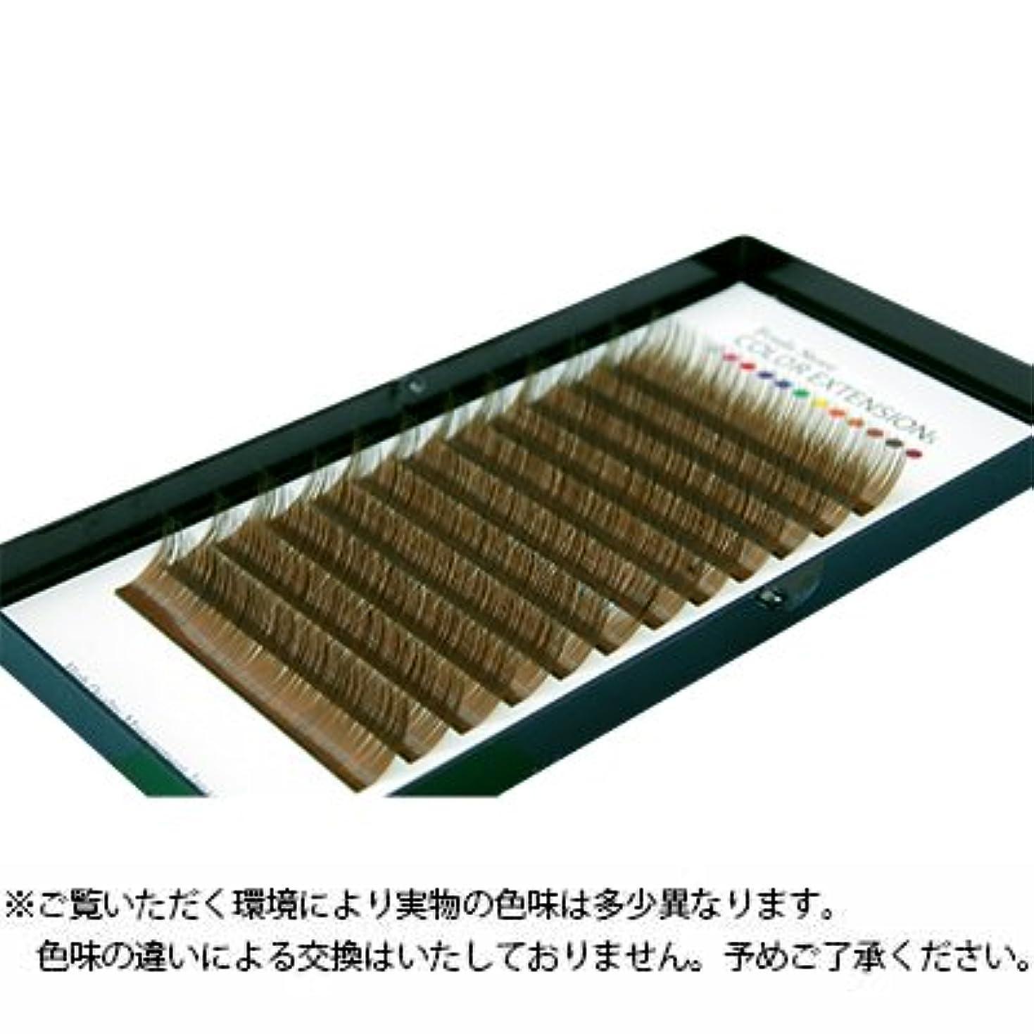純粋な脱獄ポンプ【Foula】カラーボリュームアップラッシュ 12列シート カーキブラウン Cカール 0.06mm×12mm