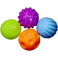 Wenasi 赤ちゃん 知覚 ボールセット4ピース ソフト手で握るボール 知育玩具 子供 幼児 乳児への贈物として知育玩具