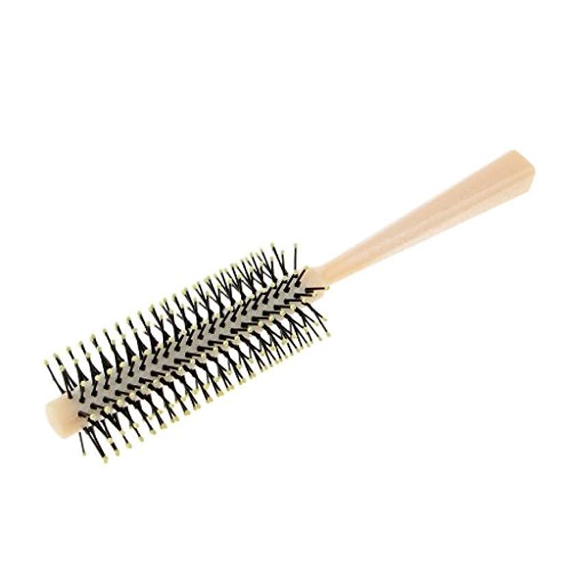知覚する力強いスリッパヘアブラシ ロール ロールブラシ 頭皮マッサージ カール 巻き髪 全2色 - 白
