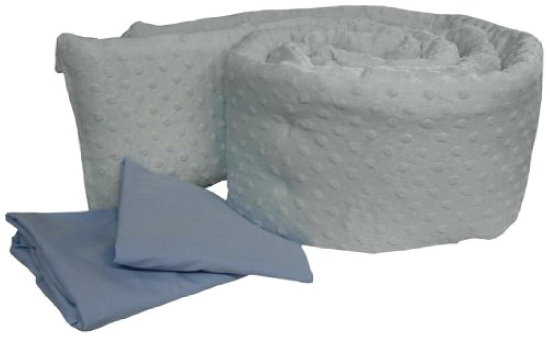 Baby Doll Bedding Heavenly Soft Grandmas Mini Crib/ Port-a-Crib Package, Blue by BabyDoll Bedding