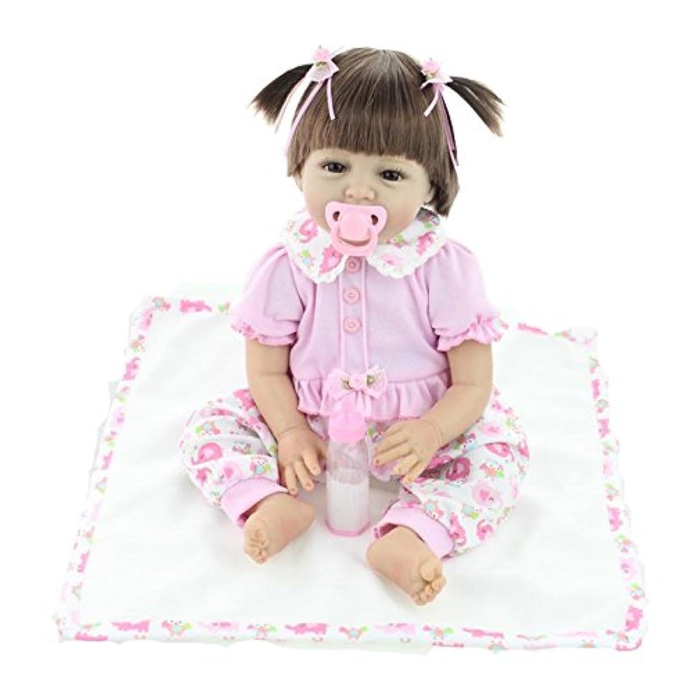 値スポーツNPKDOLL Handmade LifelikeリアルなかわいいソフトSiliconeビニールRebornベビーガール人形with Magneticダミー22インチ( 55 cm )