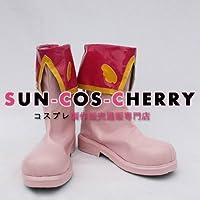 【サイズ選択可】コスプレ靴 ブーツ K-426 カードキャプターさくら 木之本桜 女性22.5CM