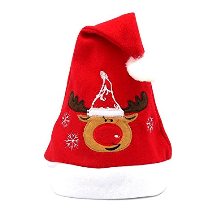 AMCOO サンタクロース 帽子 子供用 コスプレ クリスマス 小物 サンタ帽 1枚セット AMC-0715 (鹿)