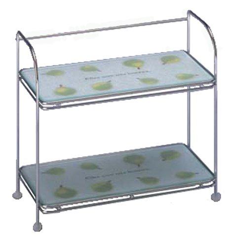 Belca キッチン棚 強化ガラス製 調味料ラック 幅29×奥行14.2×高さ25.4�p ラ・フランス KWR-SL