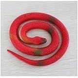 Mocase Halloween Prank Rubber Replica Colored Snake 25'' Halloween Prop Costume Red [並行輸入品]