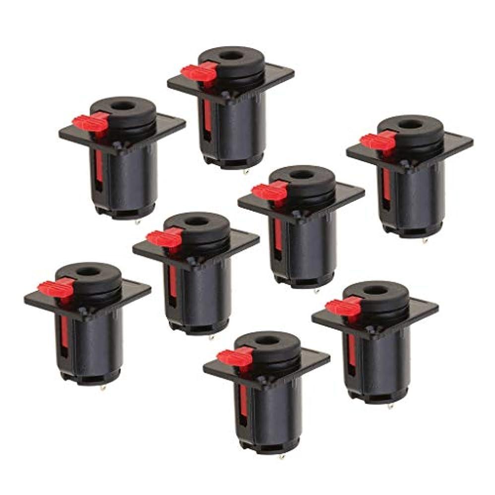 バルセロナ以内に先例KESOTO 6.35mm メス ジャック ソケット コネクタ オーディオ/マイク/ヘッドフォンケーブル適用 ブラック 8個入