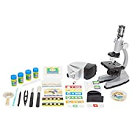 Microscope Kit with Metal Arm and Base,6 Magnifications from 50x to 1200x,Includes 86-Piece Accessory Set and Case,Best Top Pick of Microscopes For Beginners (5 Bonus Animal/Plant sides) [並行輸入品]