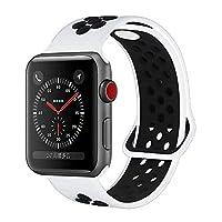 YC Yanch greatou for Apple Watchバンド38mm 42mm、ソフトシリコンスポーツバンド交換用手首ストラップiWatch Apple Watchシリーズ3シリーズ、2、シリーズ1、Nike + Sport, Edition, S/M M/Lサイズ 42mm M/L
