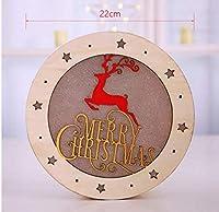 クインウィンド LED ライトクリスマスデコレーション木製デスク装飾品 - 2