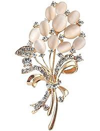 Merdiaエレガントブーケブローチ 高品質綺麗な麦穂ブローチ 花柄 女性ためにアクセサリー キラキラ
