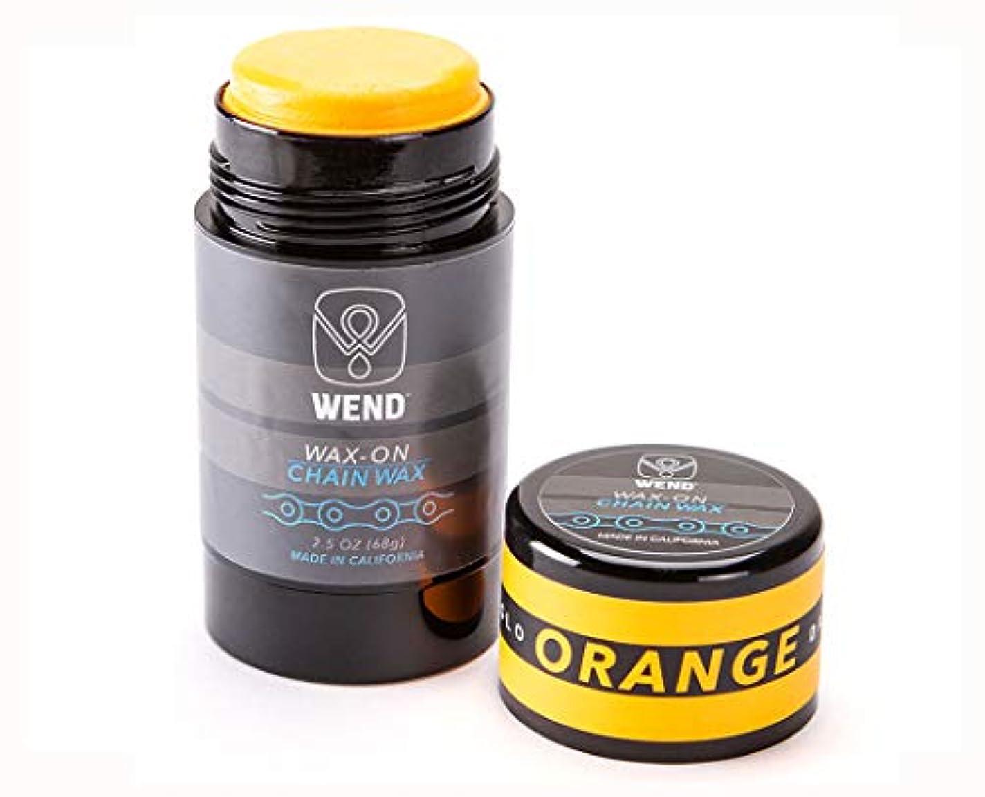 にんじん一目電信WEND(ウェンド) WAX-ON カラー チェーンワックス[オレンジ] 2.5oz(約70g)