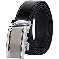 Muncaso Men's Belt Lether Ratchet Belt With Automatic Buckle