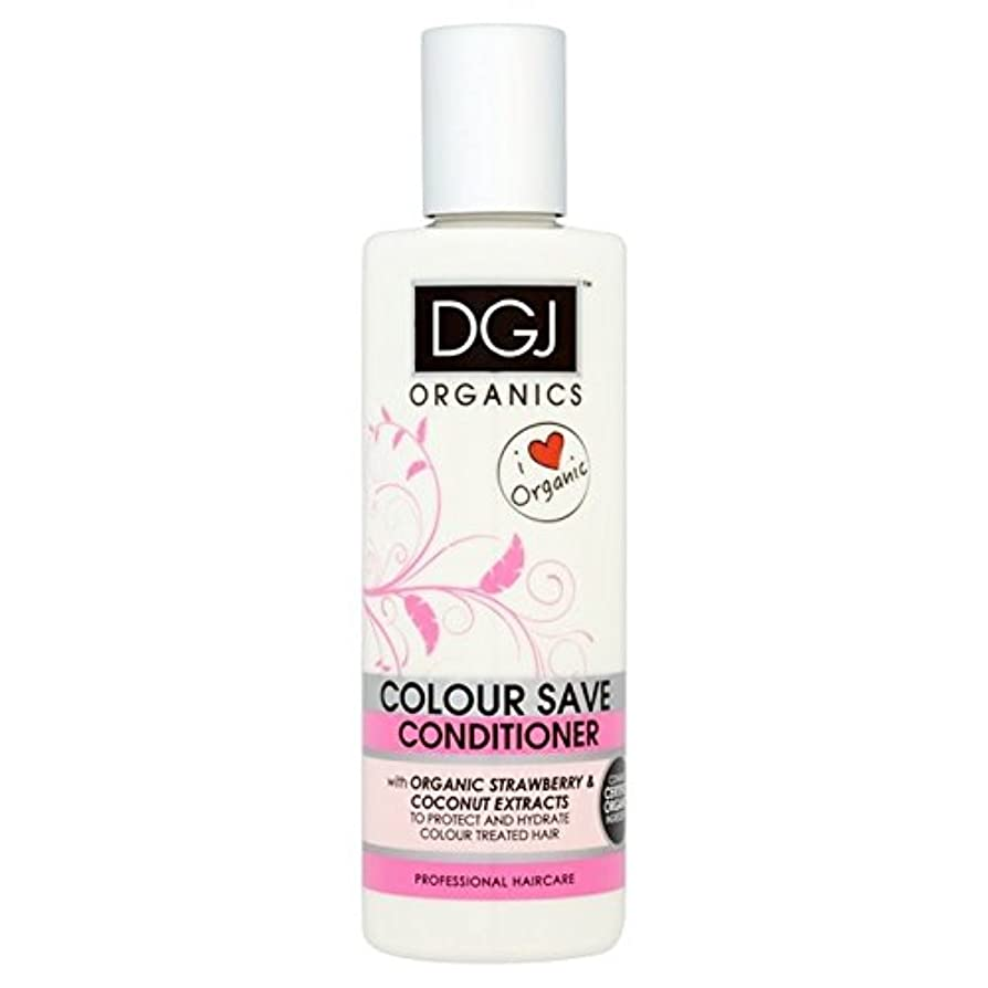 呪われたコンパニオンイノセンスDGJ Organics Colour Save Conditioner 250ml (Pack of 6) - 有機物の色コンディショナー250を保存 x6 [並行輸入品]