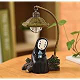 HLZL-No Face Man Night Light Table Lamp Children Gift Kids Toy Home Decor Craft Decorative Lights (Blue-Totoro)