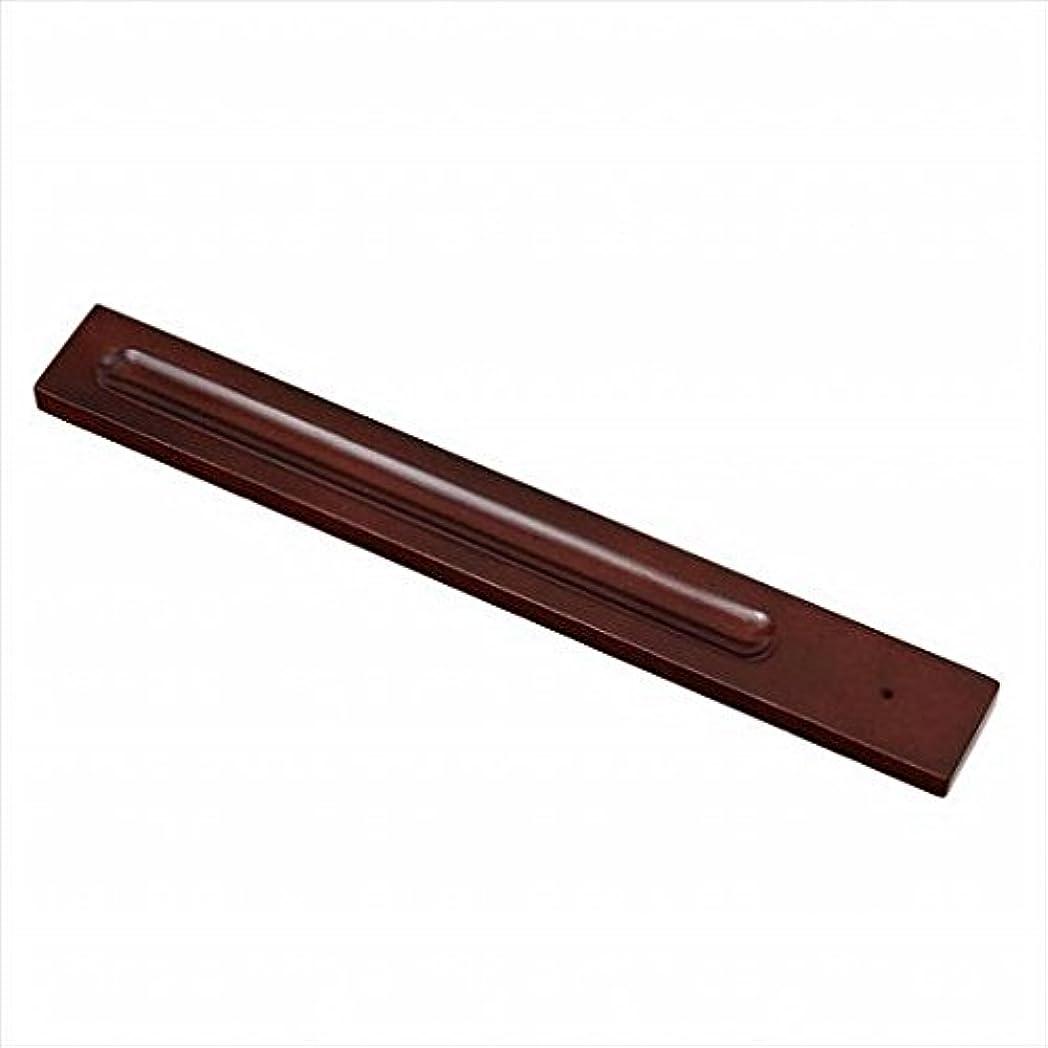 グリーンランドファックス隠されたkameyama candle(カメヤマキャンドル) バンブーインセンス用ホルダースクエア 「 ブラウン 」 キャンドル 30x246x9mm (E3130000BR)