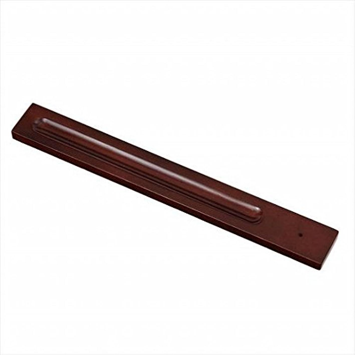 ウガンダ限られた敬意を表してkameyama candle(カメヤマキャンドル) バンブーインセンス用ホルダースクエア 「 ブラウン 」 キャンドル 30x246x9mm (E3130000BR)