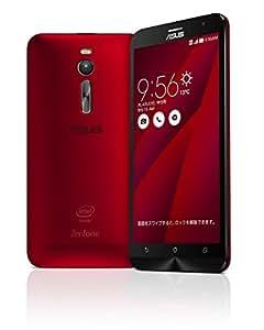 【国内正規品】ASUSTek ZenFone2 ( SIMフリー / Android5.0 / 5.5型ワイド / デュアルmicroSIM / LTE ) (レッド, 4GB/32GB) ZE551ML-RD32S4
