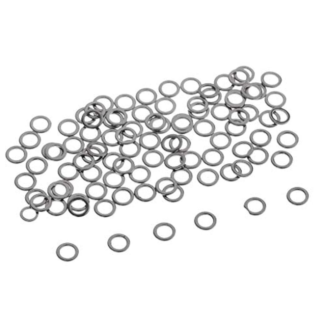 はぁ上回る華氏B Blesiya 約100個 Oリング ステンレス コネクタ リグリング シルバー 全2サイズ