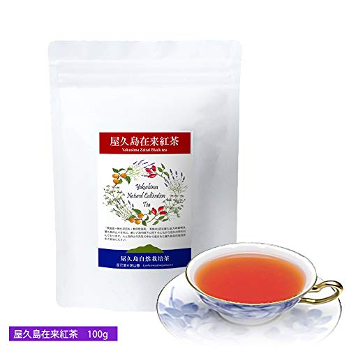 """《 私たちが作った""""屋久島在来紅茶""""です 》 屋久島自然栽培茶 100g 【無農薬・無化学肥料・飛散農薬ゼロ】"""