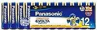 パナソニック(Panasonic) アルカリ乾電池 EVOLTA(エボルタ) 単3形 12本 LR6EJ/12SW