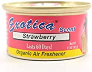 Exotica 76ESC24STR Strawberry Scent Organic Air Freshener Can