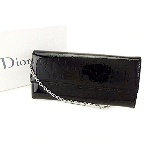 ディオール Dior 長財布 財布 L字ファスナー レディース チェーンウォレット アルティメット 中古 T3956