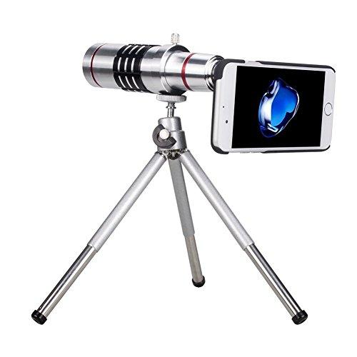 Lantoo iPhone7 専用 望遠レンズ 18倍 光学ズーム スマホカメラレンズ iPhone7用ケースとミニ三脚 収納ポーチ付き