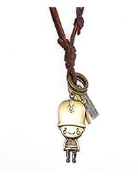 Fenteer 調節可能 ロープ かわいい 兵士形状 ペンダント ネックレス 面白い