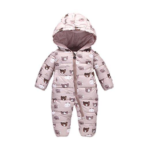 YUEGUANG ベビー服 新生児服 カバーオール ダウンロンパース 女の子 男の子 ジャンプスーツ ウンコート