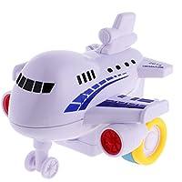 MagiDeal CartoonブルーPush and Go Friction Powered飛行機おもちゃPretend Play ToyパーティーバッグFillers