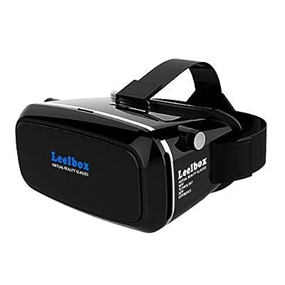 Leelbox 3D VRヘッドセット/VR BOX 超3D映像/仮想現実を体験(iPhone 7 plus/7/6s/6 Plus/6/5S/5C/ Note4/ Note5/Samsung Galaxy S5/ S6/Sony phone & 4.0~6.0インチのスマートフォンに適合)