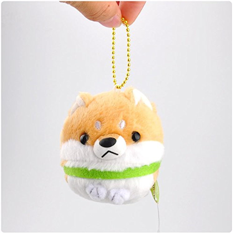 幼児期のゲーム ミニ日本芝犬シリーズ小ペンダントぬいぐるみビーズドール(イエロー)