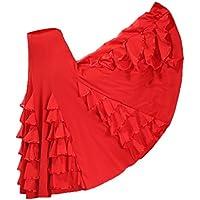 FITYLE Lady Standard Dancing Long Skirt For Flamenco Ballroom Dance Waltz Tango Costume